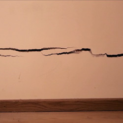 Cracks in external or internal walls (before)